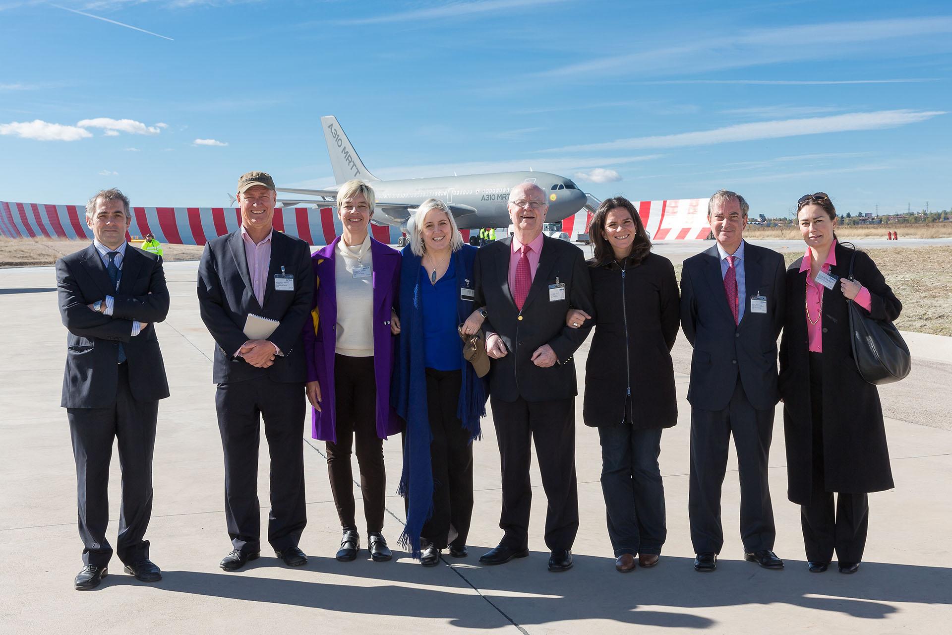 Visita de la fundación consejo España Australia y miembros de ASBA a las instalaciones de Airbus Defence and Space en Getafe